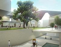 3D Arch Viz University Building - Animation