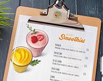 Diseño de Carta Menú La Gran Fruta