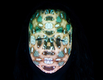 Do verbo projetar | Projeção facial mapeada