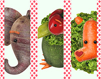 Animales y verduras