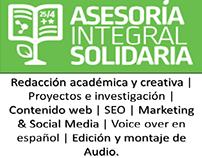 Asesoría Integral Solidaria. Texto&Audio a tu serivcio!