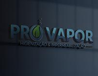 Criação de logo Pro Vapor