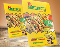 Flyer El Mariachi - Ilustration process
