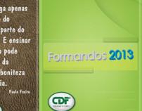 Folder Formatura 2013 CDF