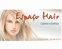 Cartão de visita para empresa espaço hair