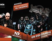 Brochure | Concierto Judas Priest Última Gira