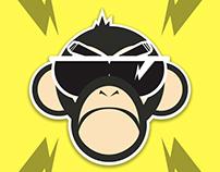 sticker monkey