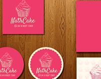 NathCake - Logo + Cartão de Visita + Adesivos + Tag