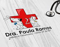 Logomarca - Médica Veterinária Dra. Paula Ramos