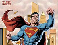 Ilustración Superman en Metrópolis