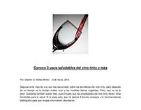 Artículo. 3 Usos del saludables del vino tinto