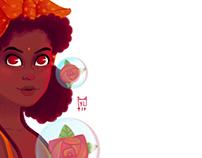 Morenita linda, ilustración
