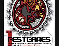 Diseño e ilustración de poster para festival de teatro