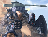Sumotrian, heavy artillery mech