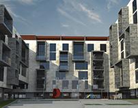Conjunto de viviendas -3d max + v ray-
