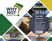 Criação de Banner e Panfleto para agência de turismo.
