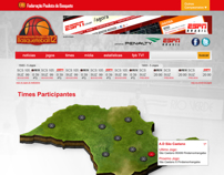 Site para o Campeonato Paulista de Basquete Masculino