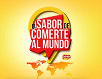 EL SABOR DE COMERTE AL MUNDO.