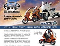 Aviso Revista Mundo Ruedas - Cliente CSR Motors