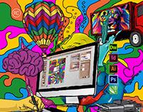 Diseño AVA graphic explosion