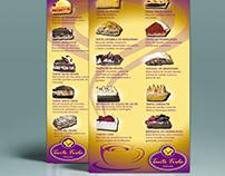 Diseño de logotipo y carta de tortas chocolatería