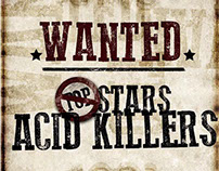 arte para o disco WANTED, do POPSTARS ACID KILLERS