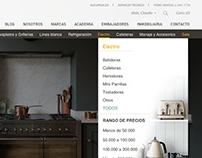 Diseño Menú para web Kitchen Center v.1.0