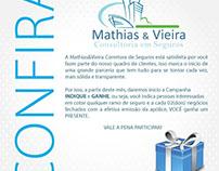 Arte criada para Mathias & Vieira Consultoria em seguro