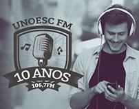 Campanha 10 Anos | Unoesc FM