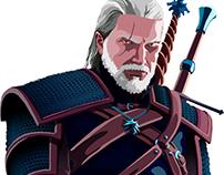 Geralt - The Witcher 3 - Vetorização