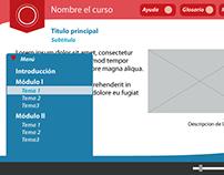 Interfaz para Objeto de Aprendizaje en Línea
