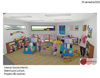 Escola Infantil- Brinquedoteca-REVIT+LUMION