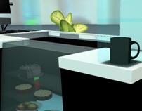 Café Baffi. Diseño y Render en 3D