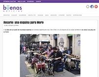 Rosario: una esquina para Moro