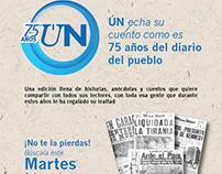 Promoción Aniversaria del diario Últimas Noticias