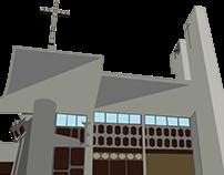 Vector Catedral de San Felipe Yaracuy Venezuela