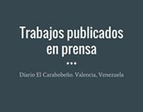 Trabajos publicados en prensa