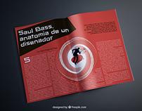 Diseño Editorial: Saul Bass