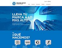 Brand Wash & Solutions - Diseño de sitio web