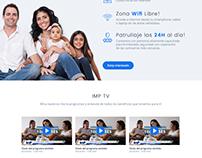 Diseño de interfaz www.imperu.com.pe