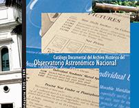 Catálogo Documental - Observatorio Astronómico Nacional