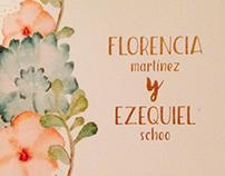 Casamiento, Florencia Martínez + Ezequiel Schoo
