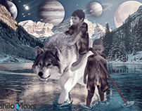 2 boys and wolf - Manipulation