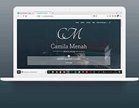 Site Institucional camilamenah.adv.br