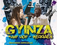 Cartel evento cultural de Hip-Hop Gyinza.