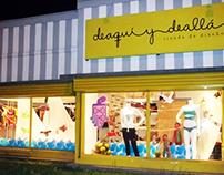DKOKO en tienda Deaquí y deallá -Diseño de Vitrina-