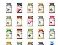 Embalagens dos produtos Instituto Bioquimico