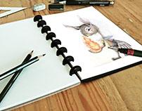 Sketch Conejo piromano