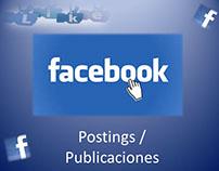 Posteos en Facebook