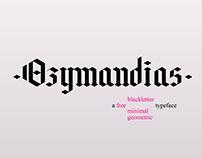 Ozymandias - free typeface